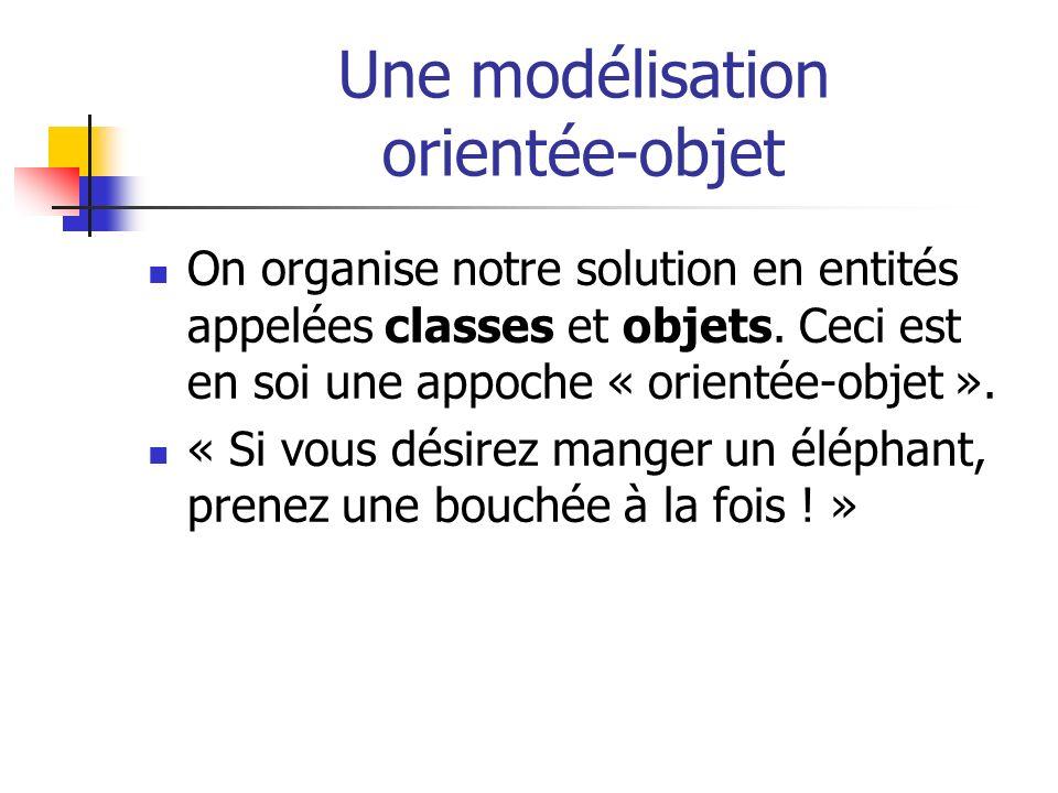 Une modélisation orientée-objet