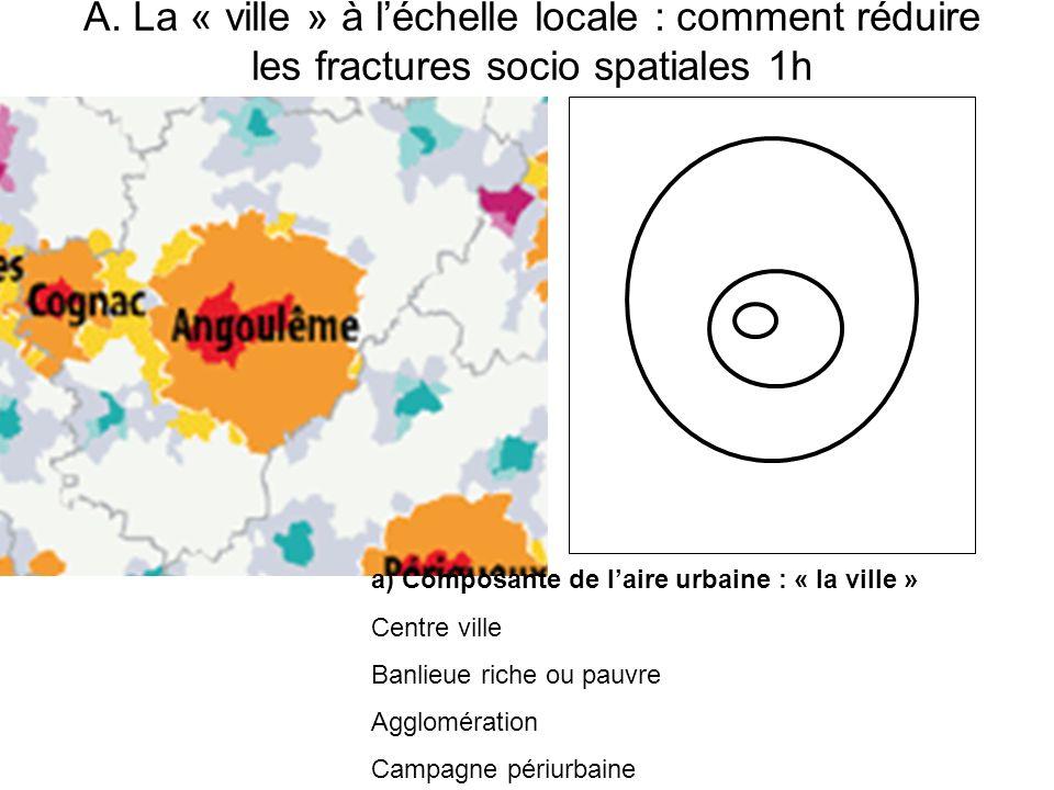 A. La « ville » à l'échelle locale : comment réduire les fractures socio spatiales 1h