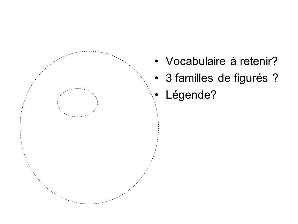 Vocabulaire à retenir 3 familles de figurés Légende