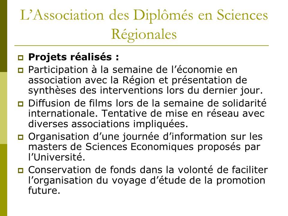 L'Association des Diplômés en Sciences Régionales
