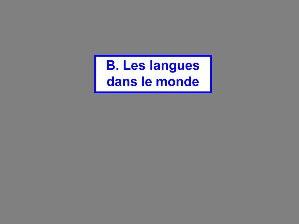 B. Les langues dans le monde