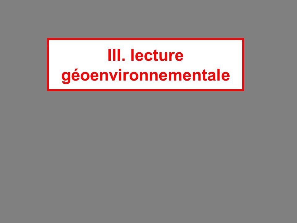 III. lecture géoenvironnementale