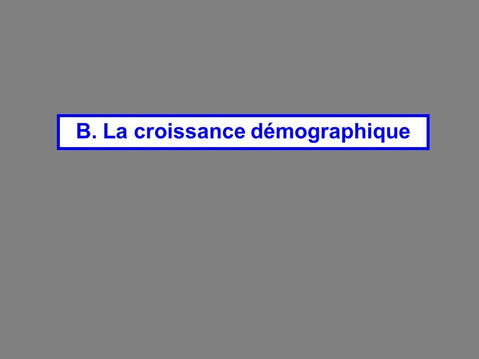 B. La croissance démographique