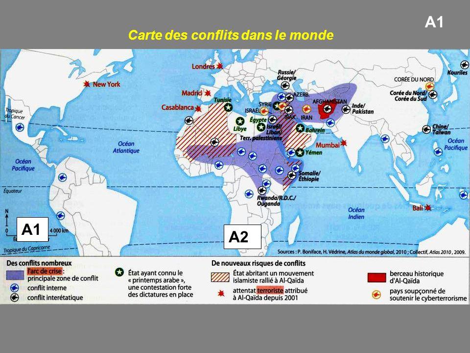 Carte des conflits dans le monde
