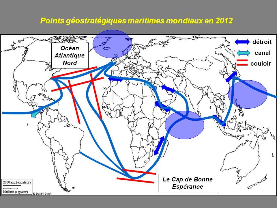 Points géostratégiques maritimes mondiaux en 2012