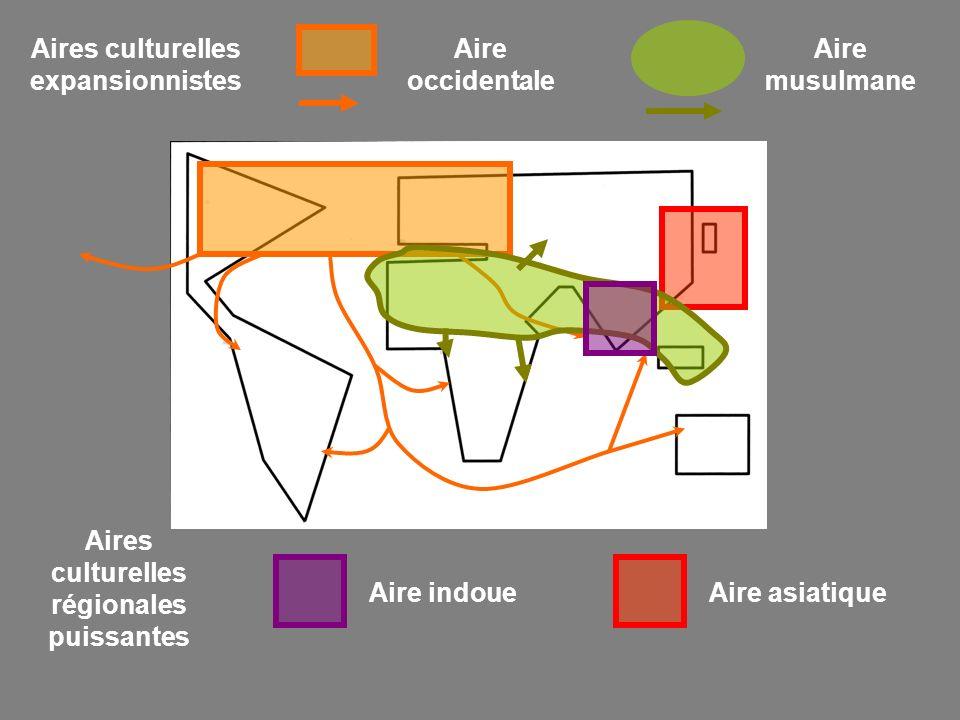 Aires culturelles expansionnistes Aire occidentale Aire musulmane