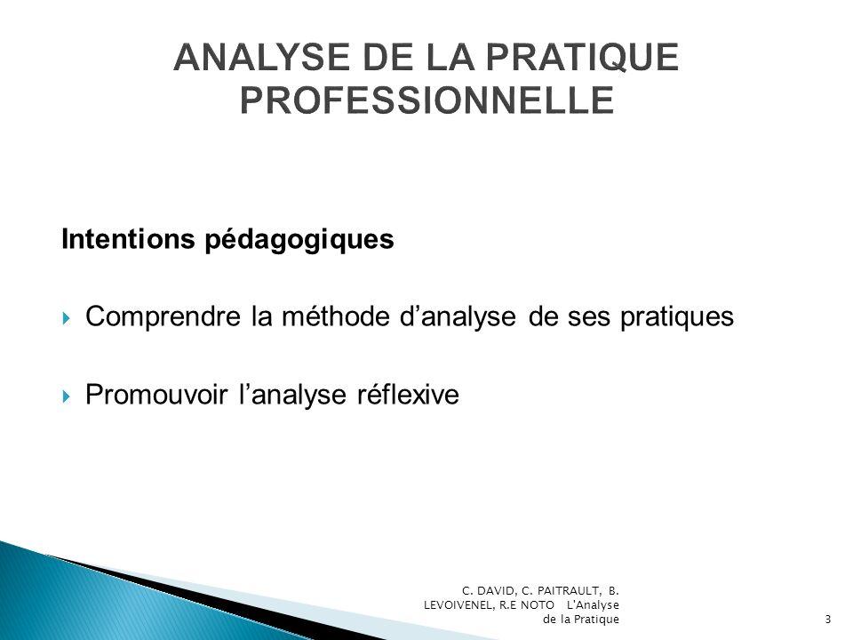 ANALYSE DE LA PRATIQUE PROFESSIONNELLE