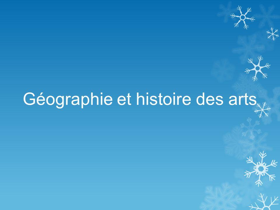 Géographie et histoire des arts