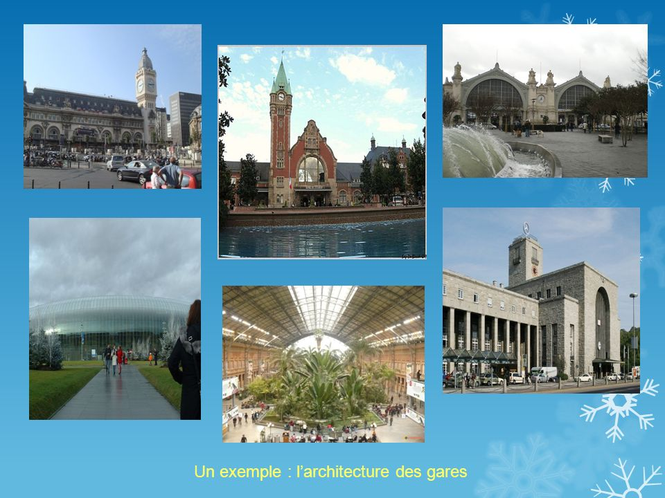Un exemple : l'architecture des gares