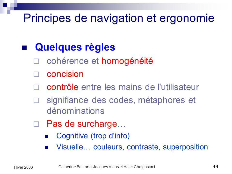 Principes de navigation et ergonomie