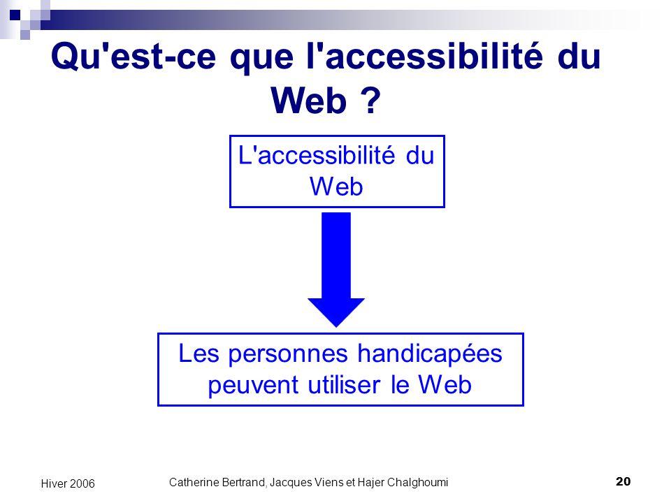Qu est-ce que l accessibilité du Web