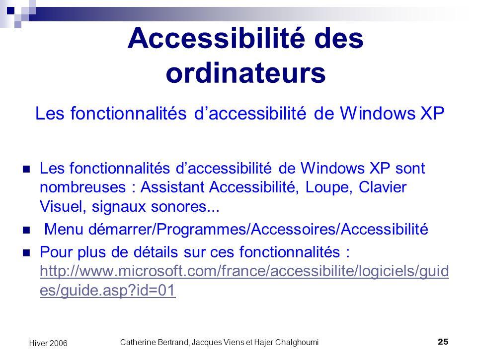 Accessibilité des ordinateurs