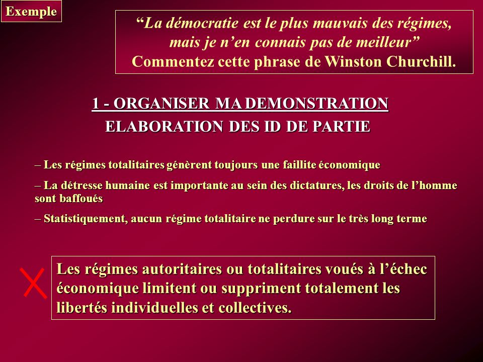 1 - ORGANISER MA DEMONSTRATION ELABORATION DES ID DE PARTIE