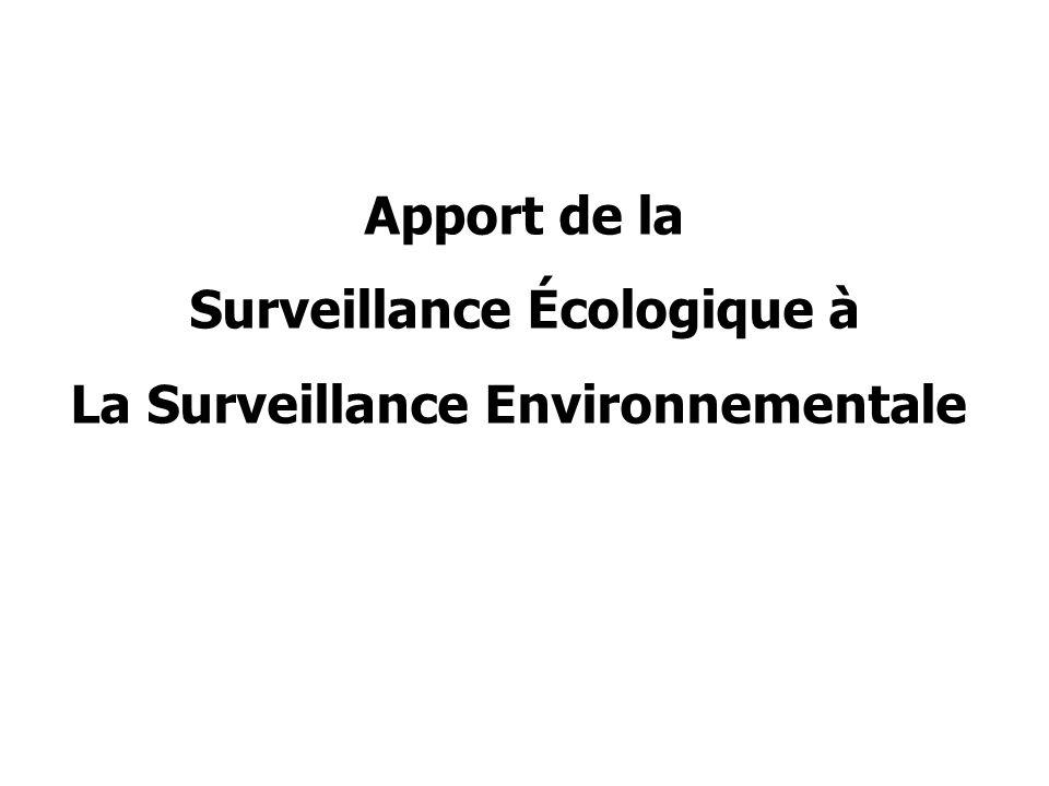 Surveillance Écologique à La Surveillance Environnementale