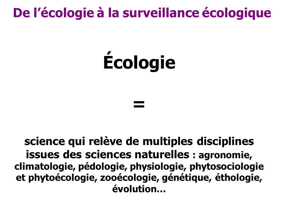 Écologie = De l'écologie à la surveillance écologique