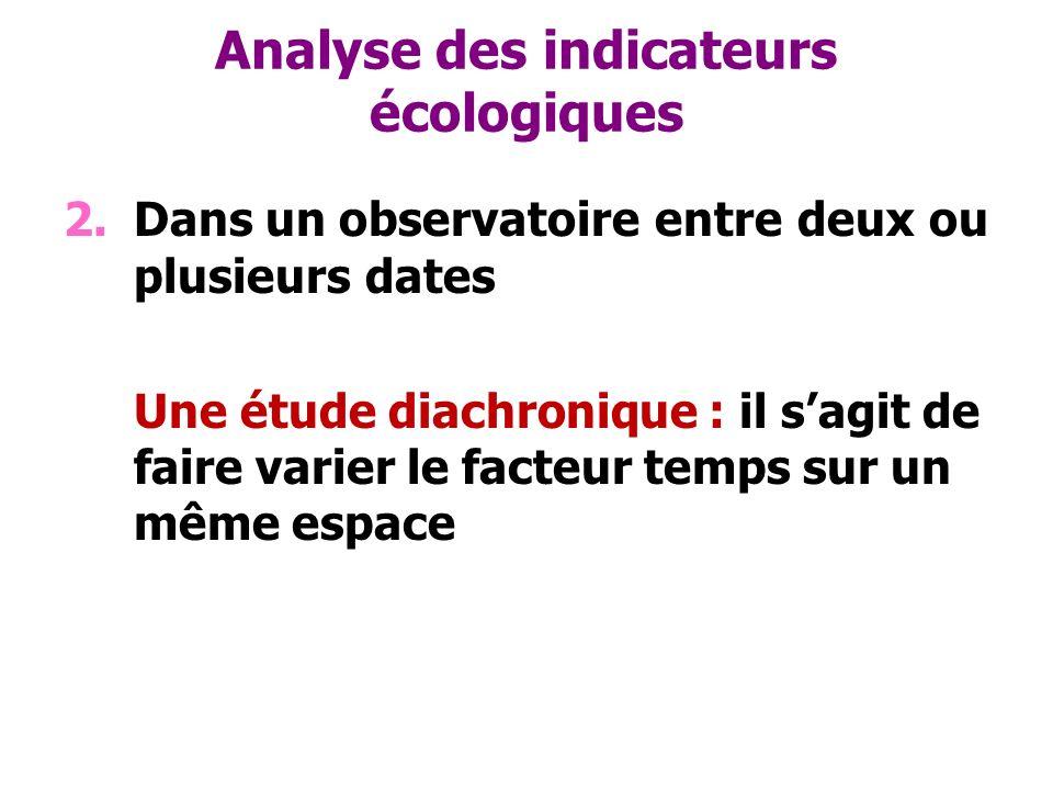 Analyse des indicateurs écologiques