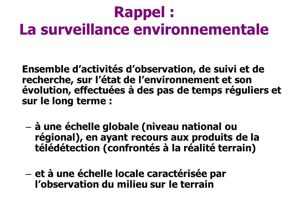 Rappel : La surveillance environnementale