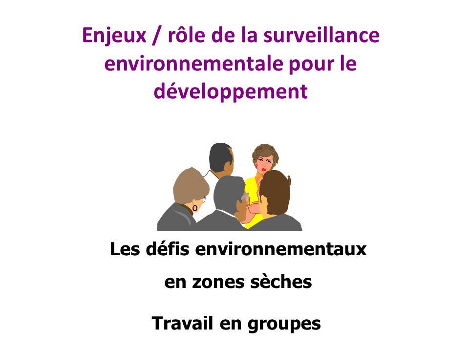 Les défis environnementaux