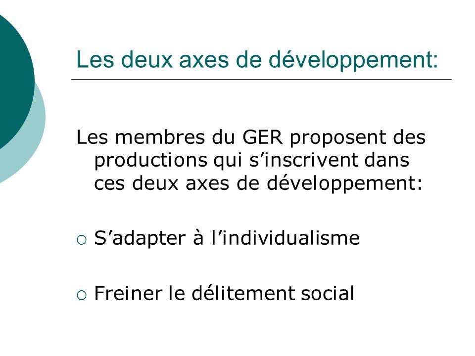 Les deux axes de développement: