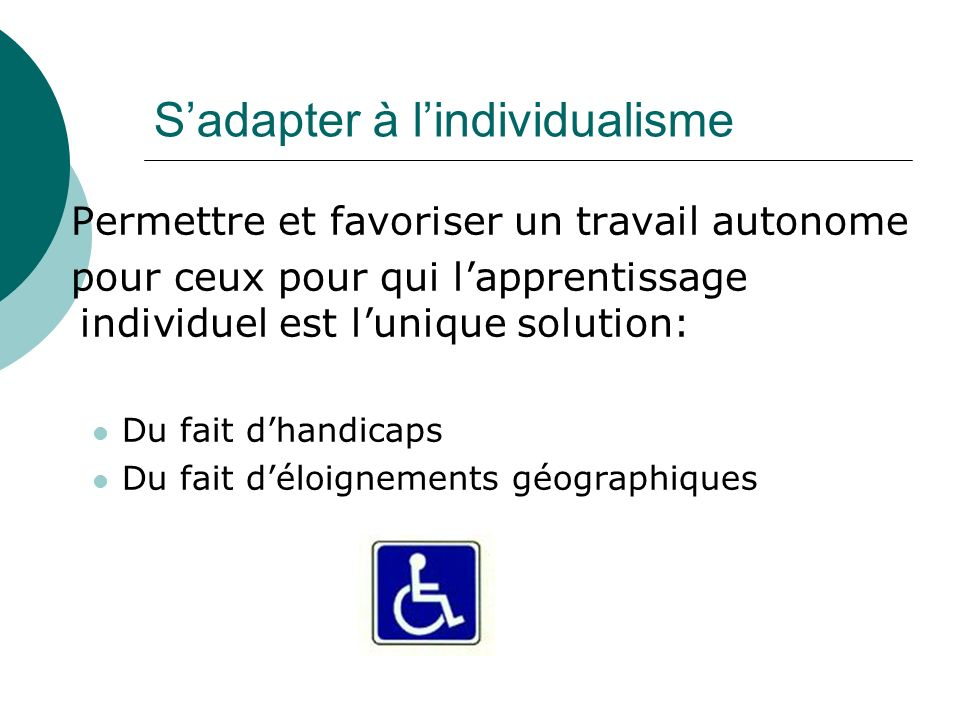 S'adapter à l'individualisme