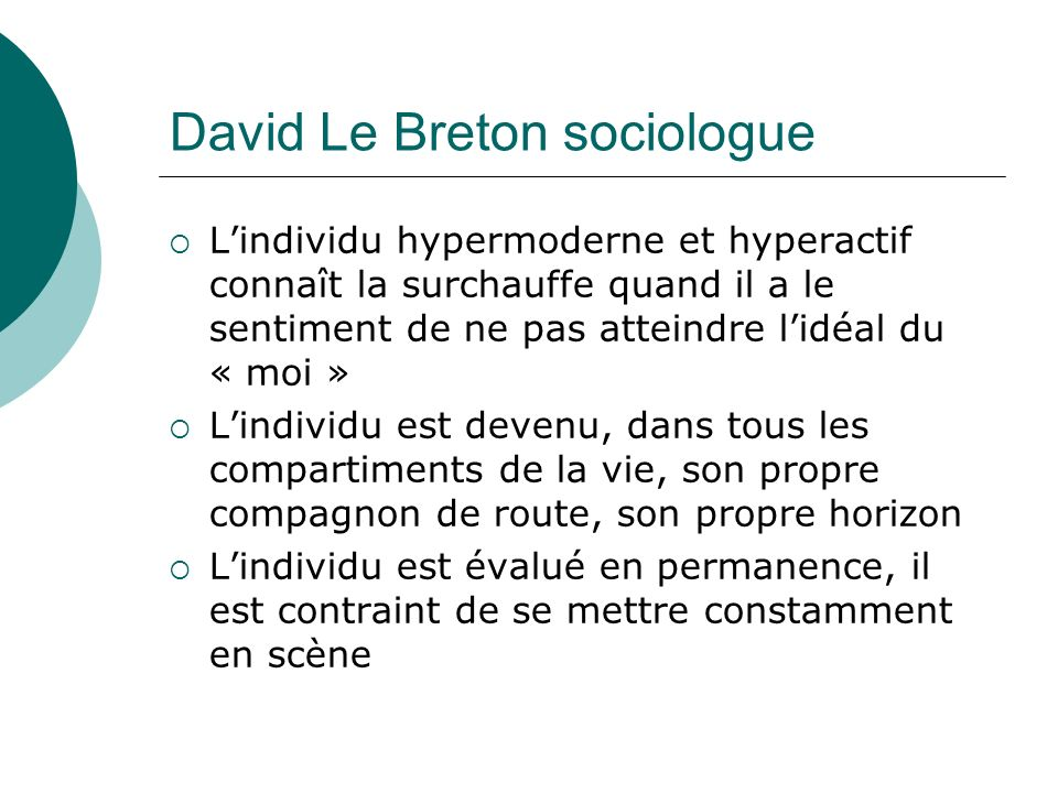 David Le Breton sociologue