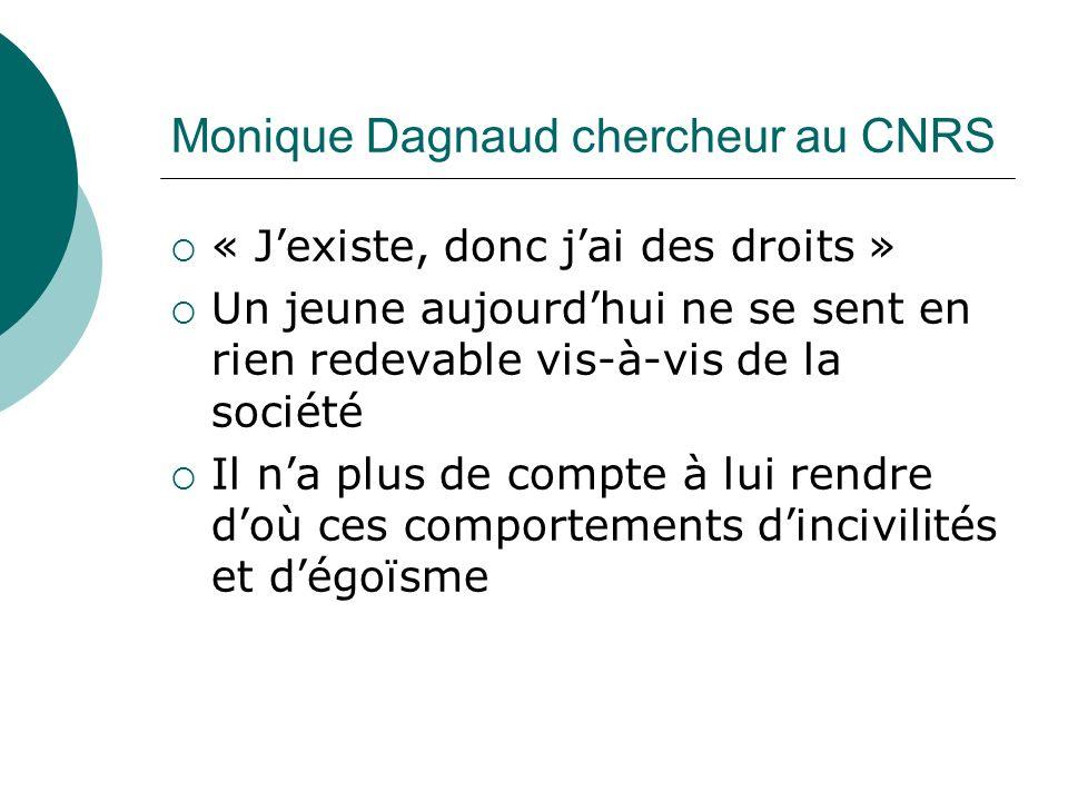 Monique Dagnaud chercheur au CNRS