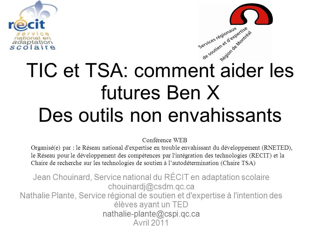 Jean Chouinard, Service national du RÉCIT en adaptation scolaire