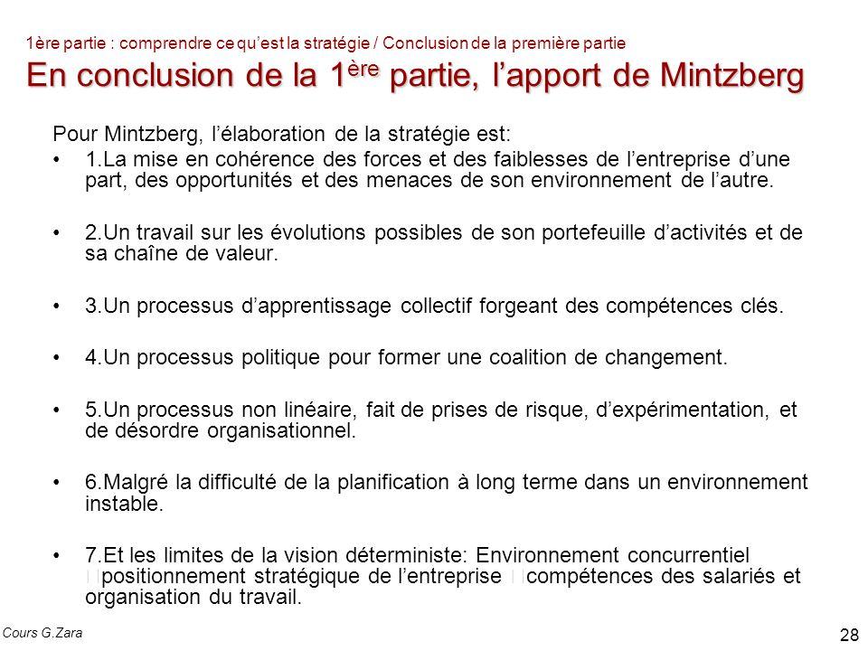 Pour Mintzberg, l'élaboration de la stratégie est: