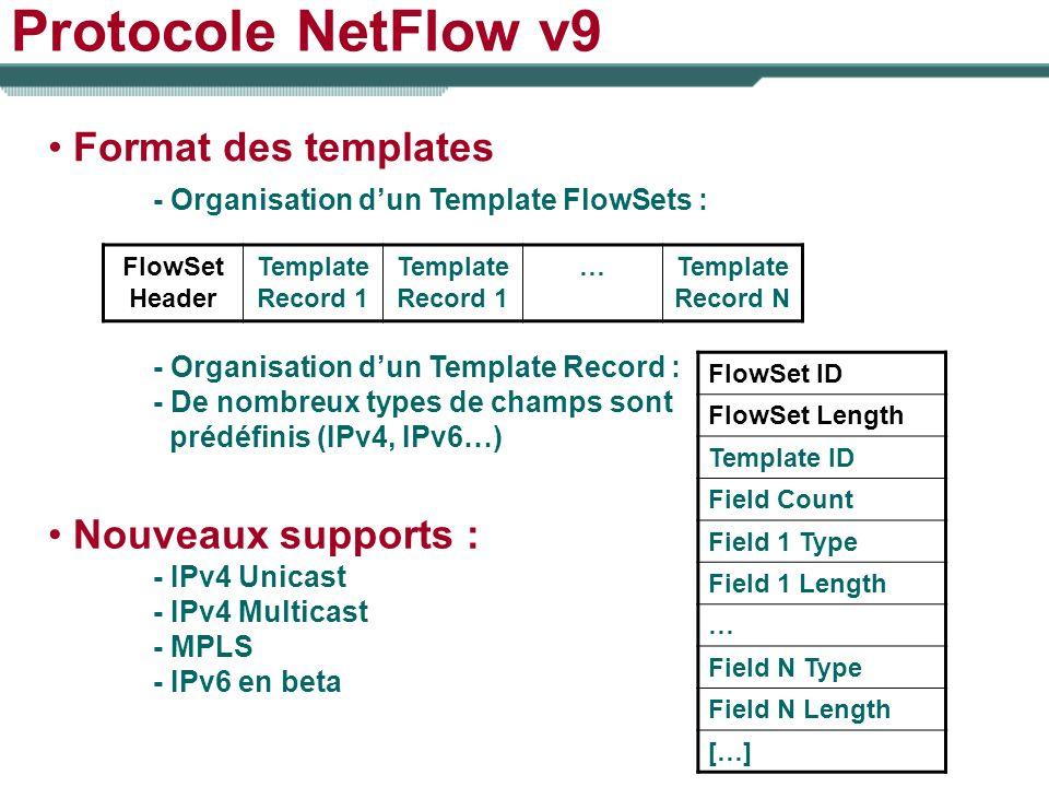 Protocole NetFlow v9 Format des templates