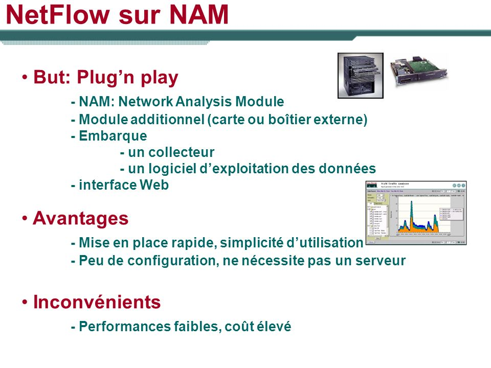 NetFlow sur NAM But: Plug'n play - NAM: Network Analysis Module