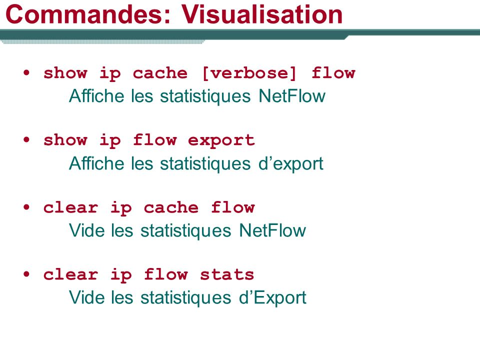 Commandes: Visualisation