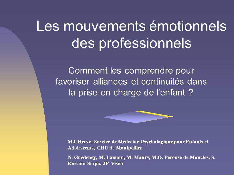 Les mouvements émotionnels des professionnels