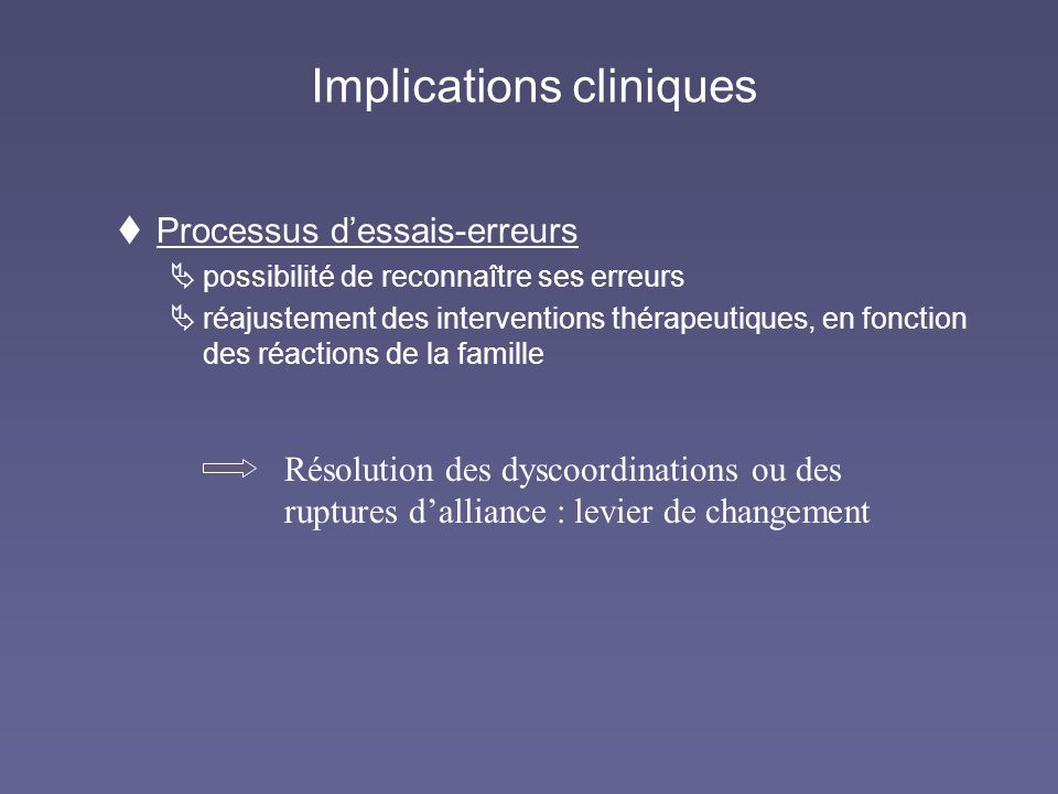 Implications cliniques