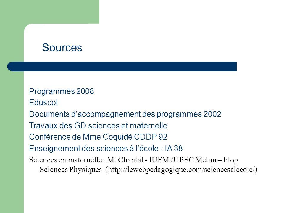 Sources Programmes 2008 Eduscol