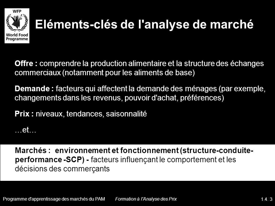 Eléments-clés de l analyse de marché
