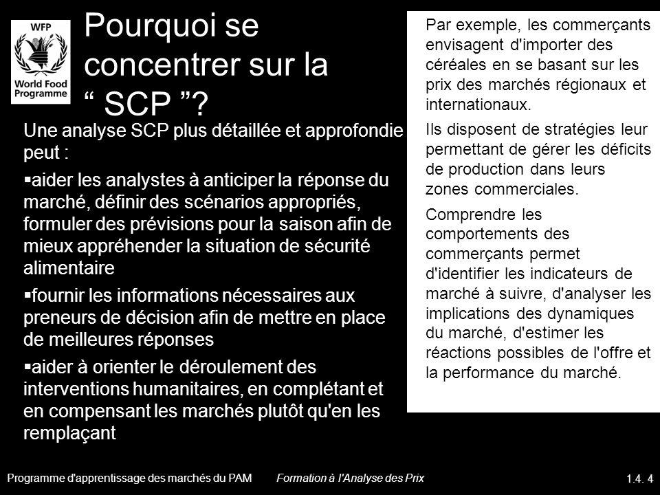 Pourquoi se concentrer sur la SCP