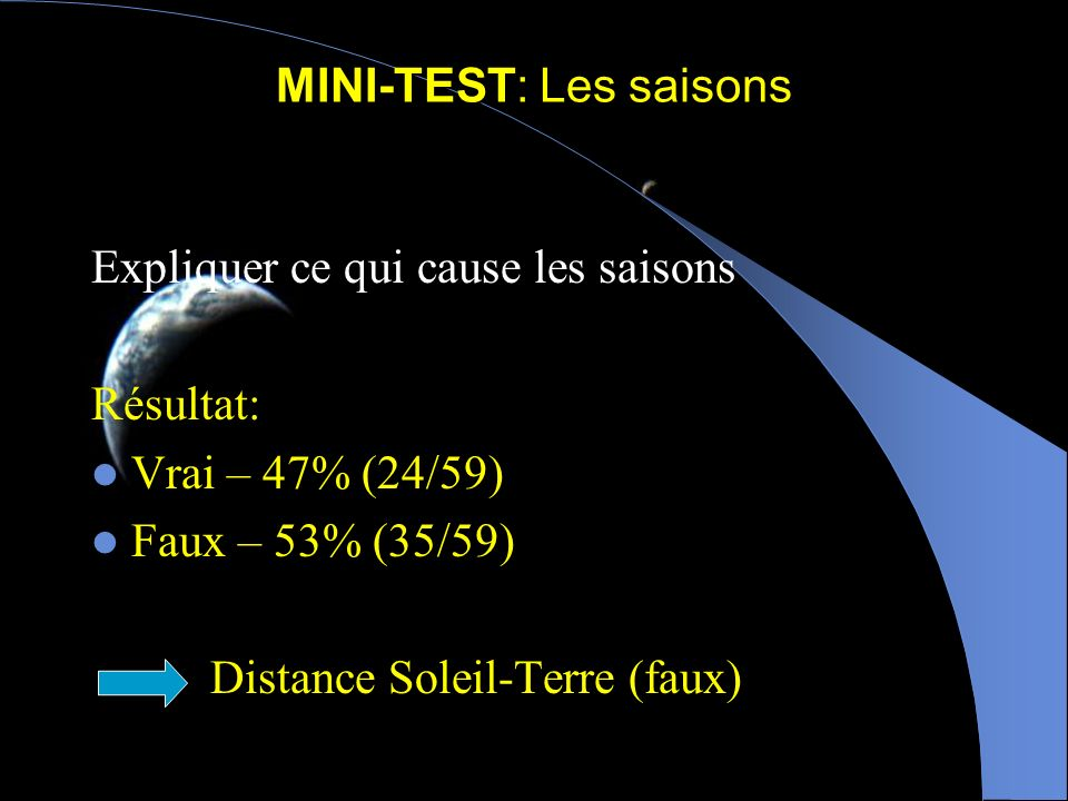 MINI-TEST: Les saisons