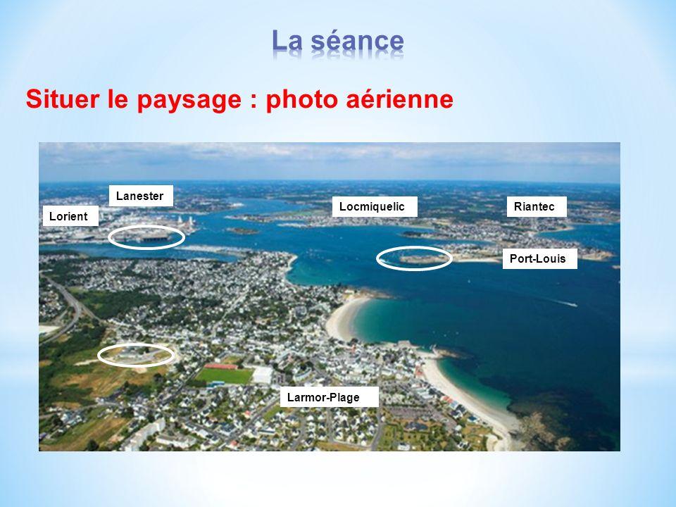 La séance Situer le paysage : photo aérienne Lanester Locmiquelic