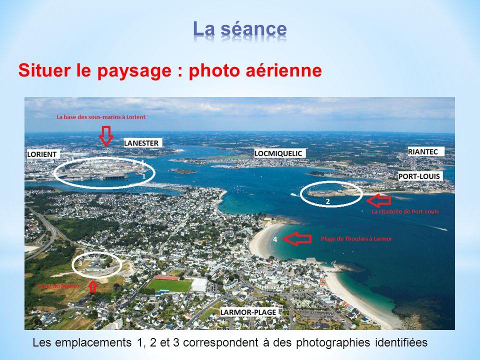 La séance Situer le paysage : photo aérienne
