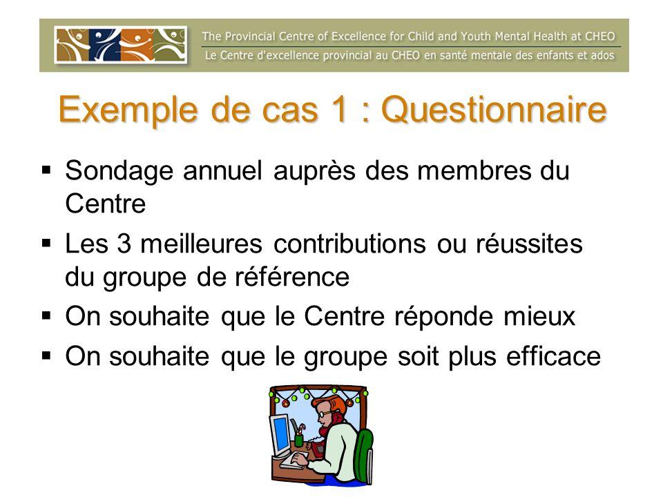 Exemple de cas 1 : Questionnaire
