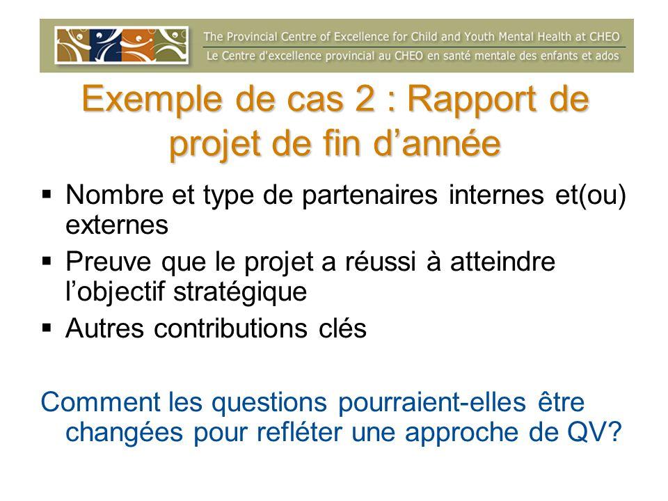 Exemple de cas 2 : Rapport de projet de fin d'année