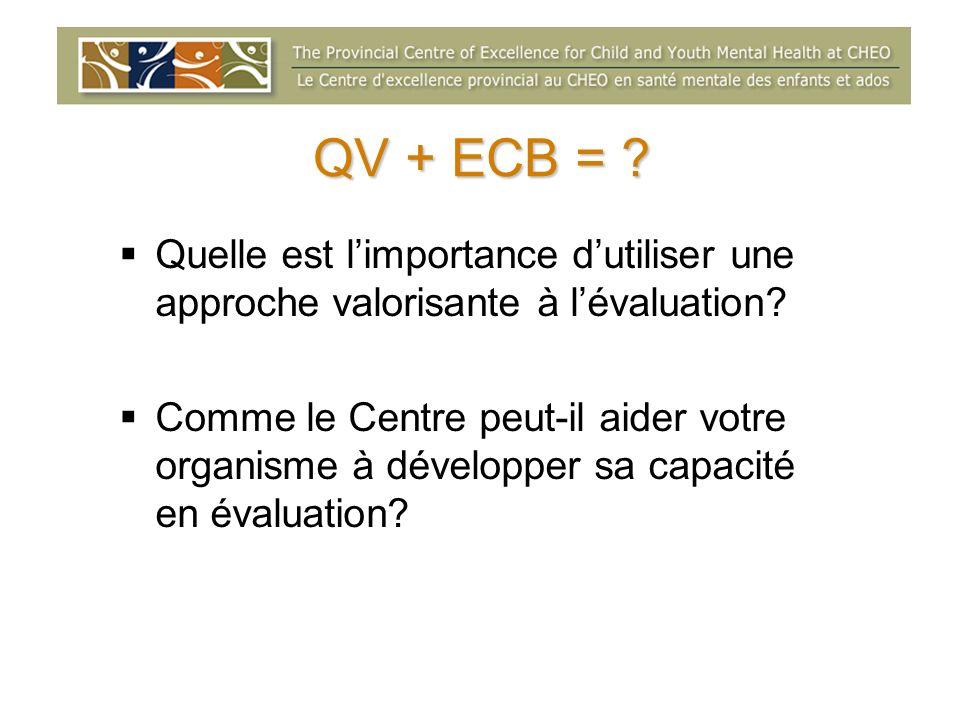 QV + ECB = Quelle est l'importance d'utiliser une approche valorisante à l'évaluation