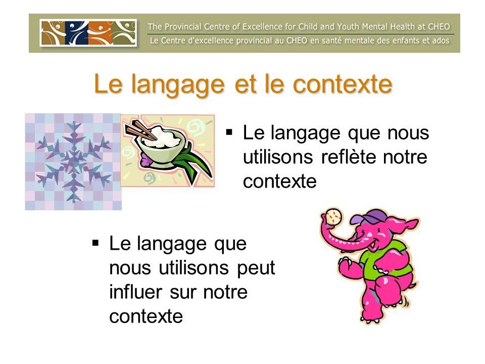 Le langage et le contexte