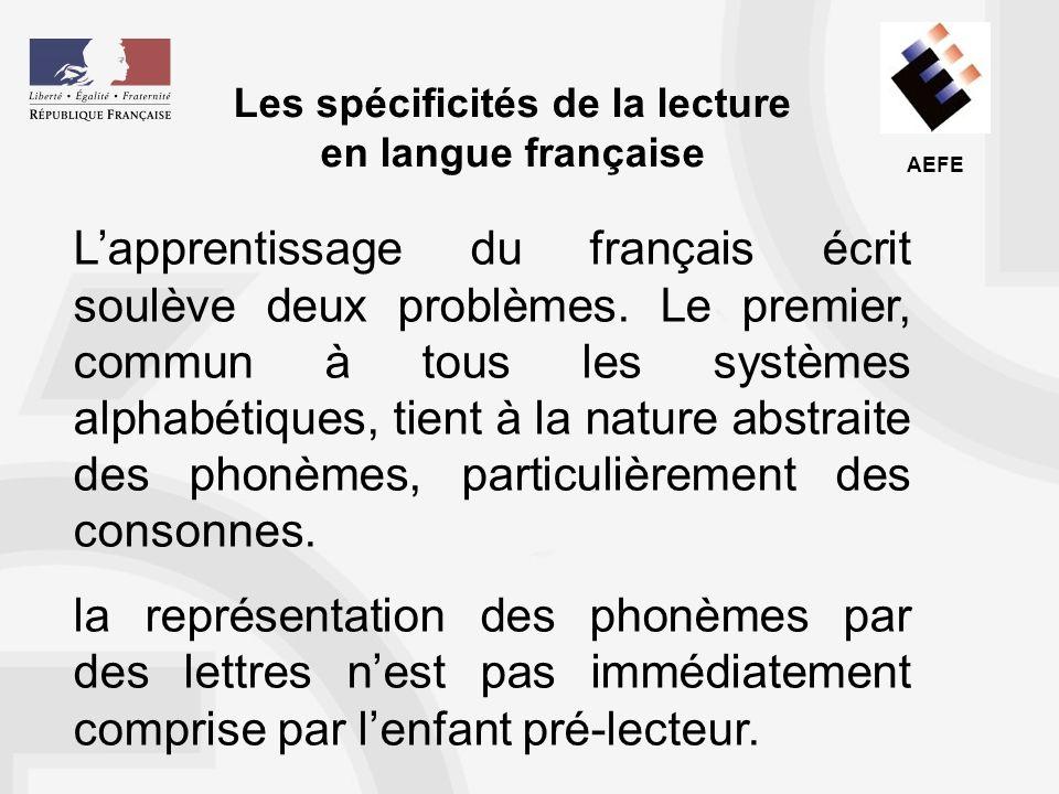 Les spécificités de la lecture en langue française