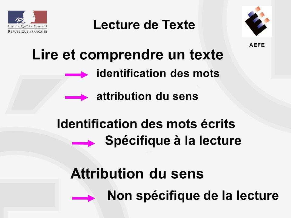 Lire et comprendre un texte