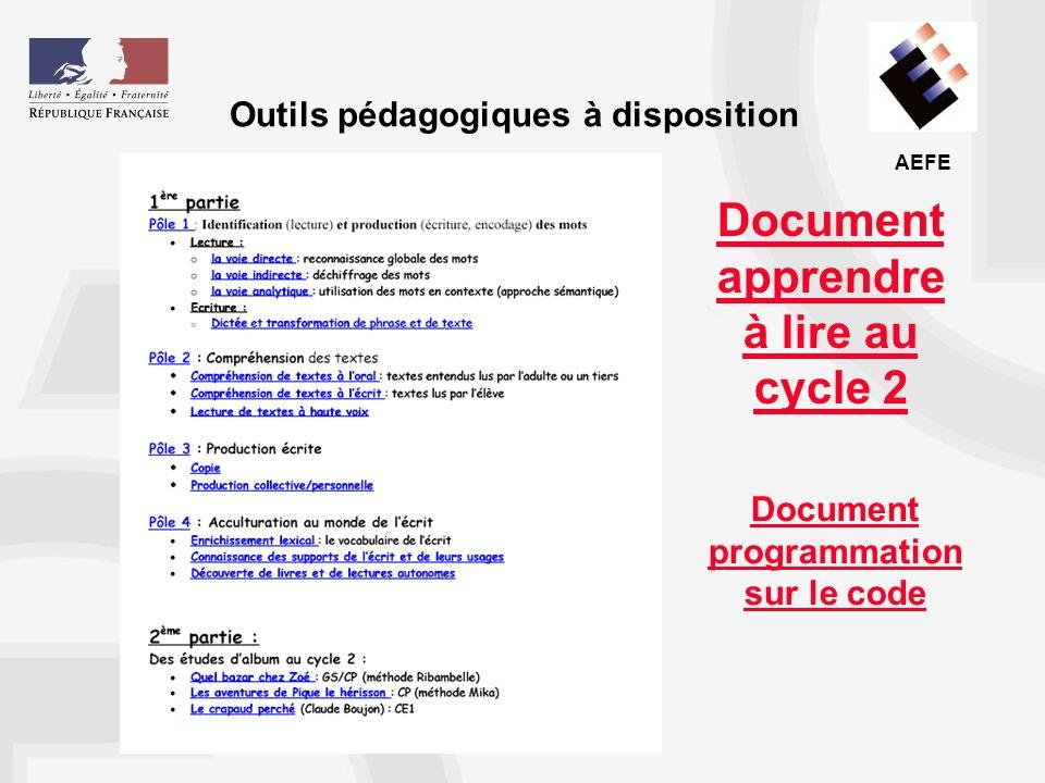 Document apprendre à lire au cycle 2
