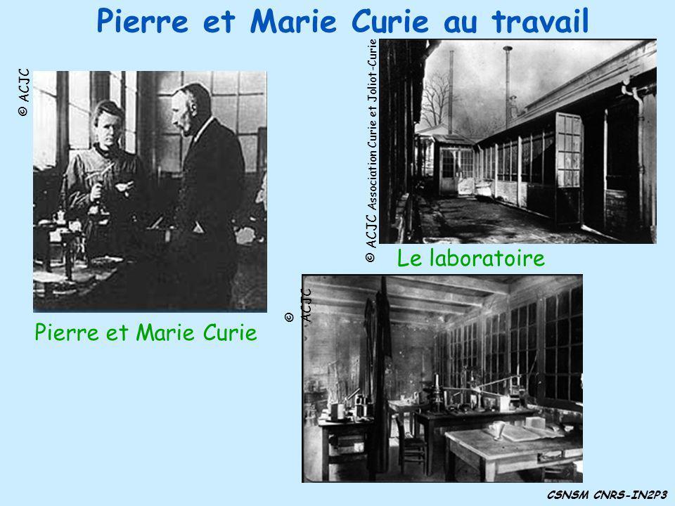 Pierre et Marie Curie au travail