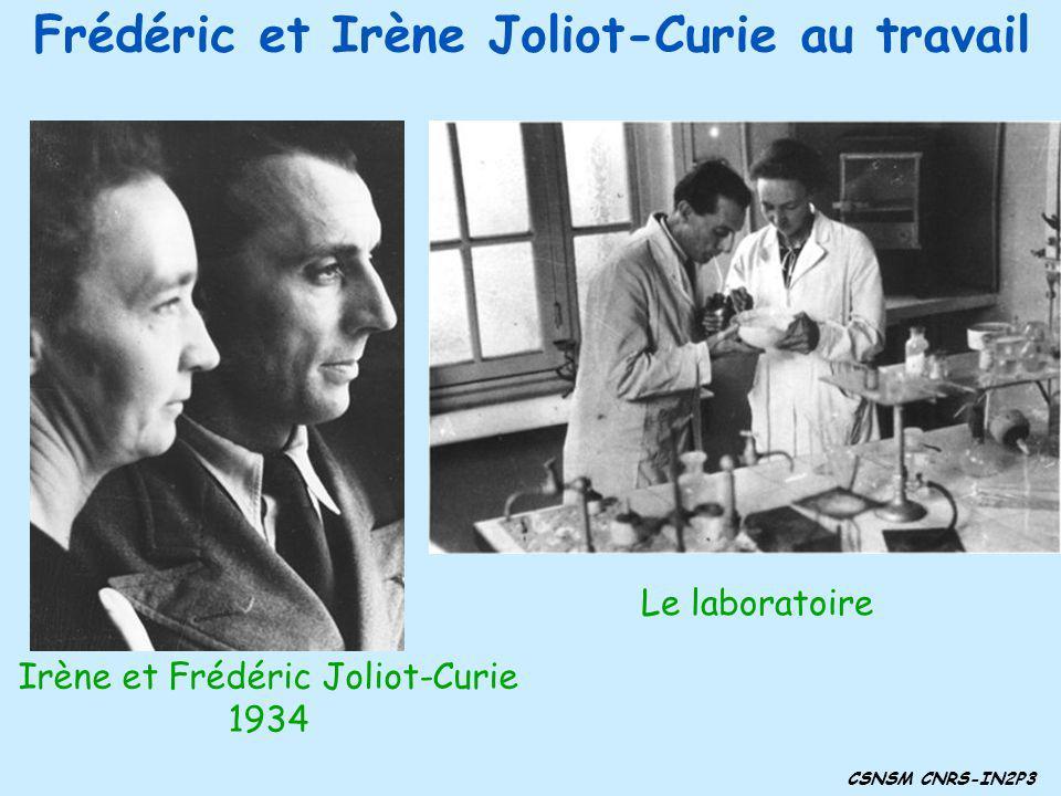 Frédéric et Irène Joliot-Curie au travail