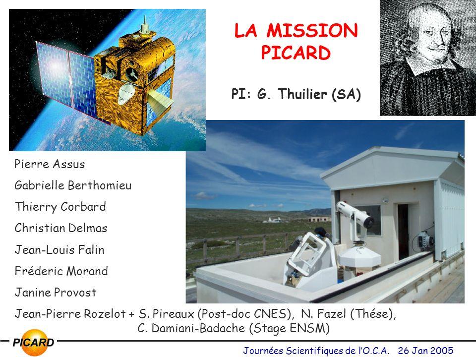 LA MISSION PICARD PI: G. Thuilier (SA)