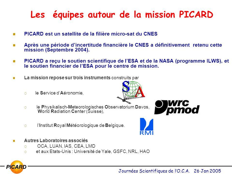 Les équipes autour de la mission PICARD